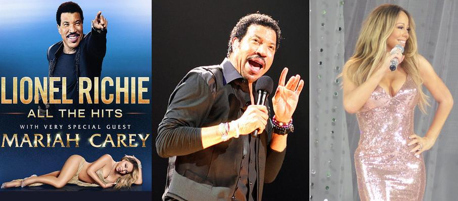 Lionel Richie with Mariah Carey at Golden 1 Center